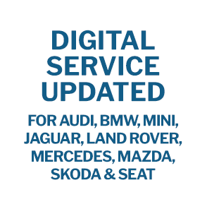 Digital Service Updated - for Audi, BMW, Mini,  Jaguar, Land Rover, Mercedes, Mazda, Skoda & Seat